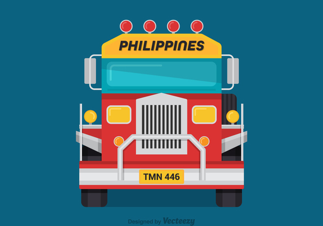 Free Vector Jeepney Front View - бесплатный vector #418709