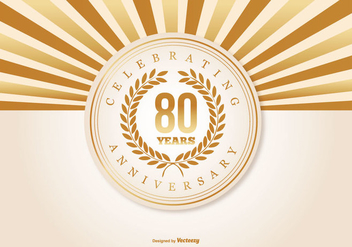 80th Anniversary Illustration - Free vector #418719