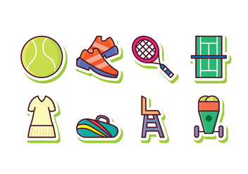 Free Tennis Icon Set - vector gratuit #418809