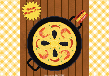 Free Paella Vector Illustration - Free vector #418829