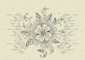 Free Vector Flower Illutration - Free vector #418859