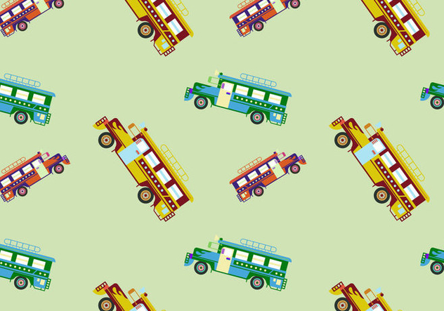 Free Jeepney Vector Illustration - Kostenloses vector #418899
