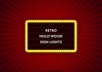 Free Vector Hollywood Sign Lights - Kostenloses vector #418909