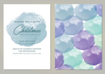 Vector Winter Card - Kostenloses vector #418929