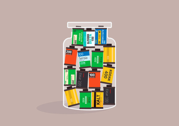Film Photo Canister - Kostenloses vector #418969