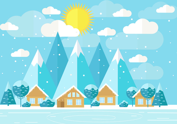 Free Vector Winter Landscape - Free vector #418989