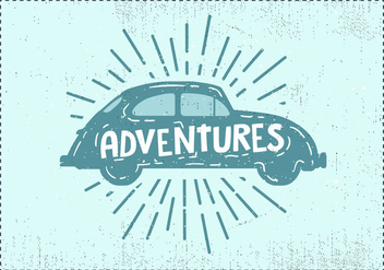 Free Hand Drawn Vintage Car Background - vector gratuit #419049
