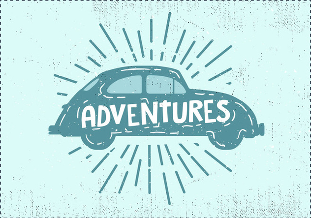 Free Hand Drawn Vintage Car Background - vector #419049 gratis