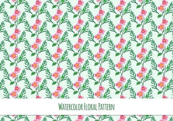Free Vector Pattern With Floral Theme - Kostenloses vector #419079