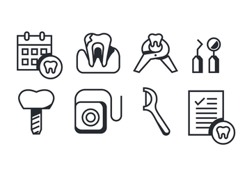 Vector Pack of Dentista Icons - vector gratuit #419109