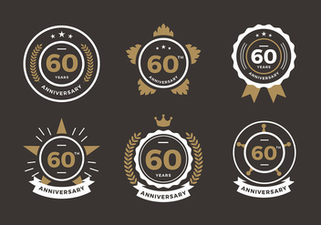 60th Anniversary Logo Free Vector - бесплатный vector #419119