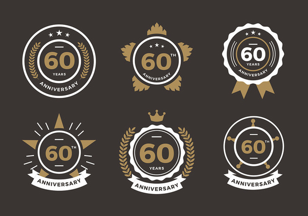60th Anniversary Logo Free Vector Free Vector Download 419119 Cannypic