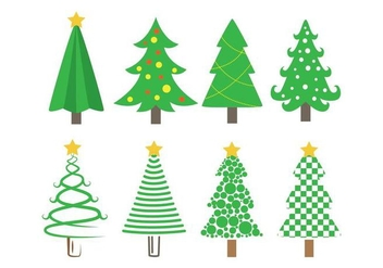 Sapin Vector Christmas Tree Icons - Free vector #419129