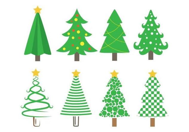 sapin vector christmas tree icons free vector download