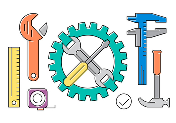 Free Collection With Tools - Free vector #419149