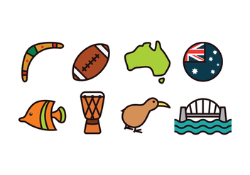 Australia Icon Set - vector #419219 gratis