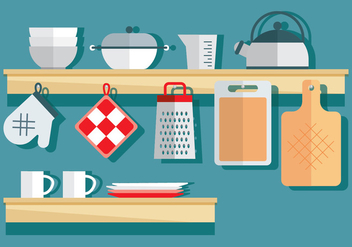 Cookware Vector Items - vector #419229 gratis