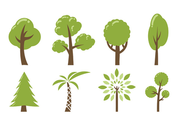 Tree Icon Vector Pack - vector gratuit #419249
