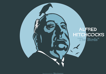 Free Alfred Hitchcock Vector Illustration - vector gratuit #419269