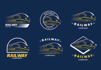 Train Logo Template Free Vector - vector gratuit #419289