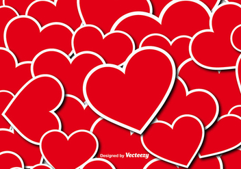 Vector Hearts Seamless Pattern - Free vector #419299