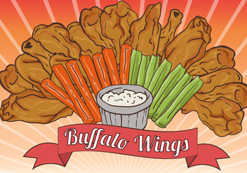 Buffalo Wings With The Sauce - vector #419309 gratis
