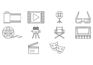 Free Movie Icon Vector - vector gratuit #419339