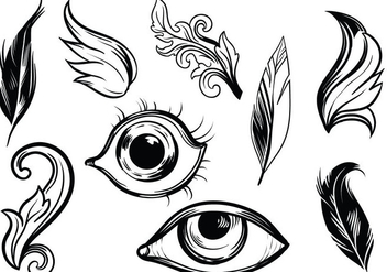 Detailed Hand Drawn Vectors - vector #419359 gratis