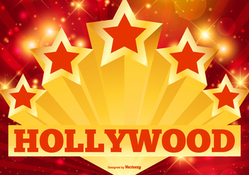 Hollywood Stars and Lights Illustration - vector #419369 gratis