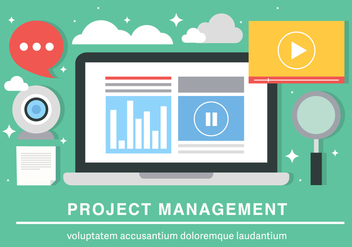 Free Flat Project Management Vector Background - бесплатный vector #419459