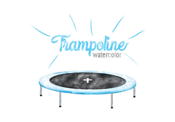 Free Trampoline Watercolor Vector - бесплатный vector #419469