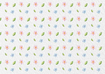 Free Vector Watercolor Spring Flowers Pattern - Kostenloses vector #419499
