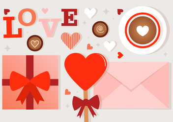 Free Valentine's Day Vector Elements - Kostenloses vector #419509