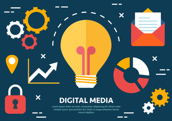 Free Flat Digital Marketing Concept Vector - vector gratuit #419519
