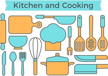 Free Kitchen and Cooking Icons Vector - vector #419529 gratis