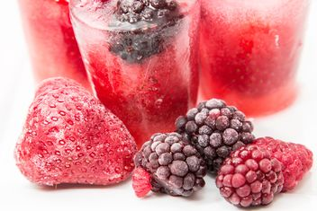 frozen strawberries, raspberries and blackberries - Free image #419649