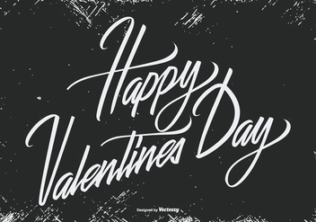 Grunge Happy Valentine's Day Illustration - vector gratuit #419659