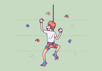 Free Wall Climbing Illustration - бесплатный vector #419719