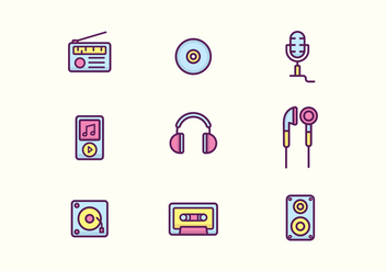 Free Music Icons - vector #419789 gratis