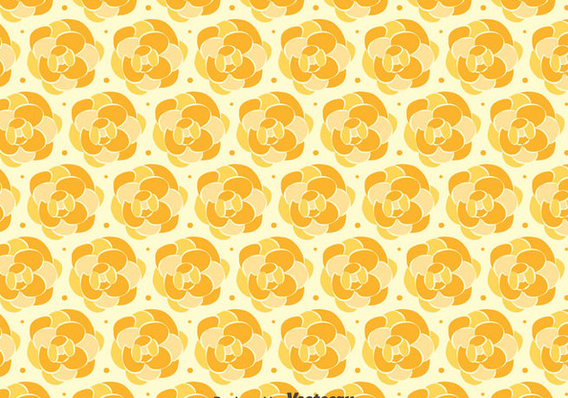 Orange Camellia Pattern Background - бесплатный vector #419809