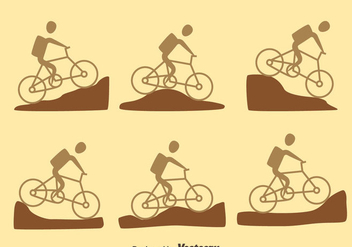 Mountain Bike Trail Vector - Free vector #419819
