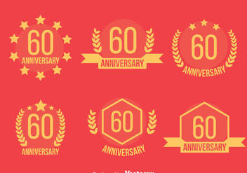 60th Annivecsary Emblem Vector - бесплатный vector #419849
