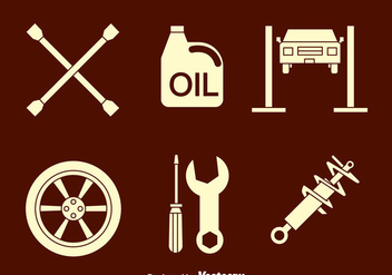 Auto Body Icons Vector - vector gratuit #419859