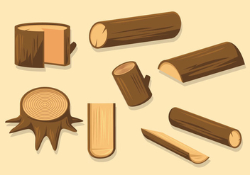 Free Wood Logs Vector - vector gratuit #419879