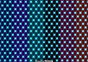 Set Of Vector Seamless Patterns With Glowing Stars - Free vector #419909