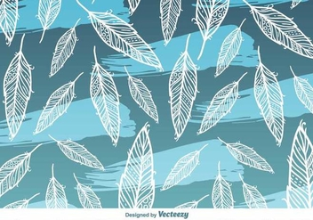 Feather Vector Background Pattern - vector gratuit #419939