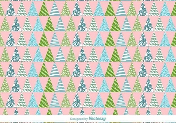 Geometric Christmas Trees Vector Pattern - бесплатный vector #419959