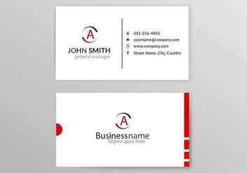 Free Vector Business Card - Kostenloses vector #419999