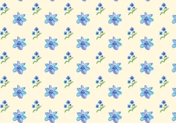 Watercolor Blue Flowers Free Vector Seamless Pattern - Kostenloses vector #420009