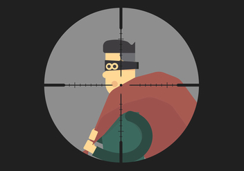 Headshot of Thief Vector - Free vector #420049